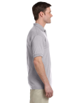 Sport Grey DryBlend™ 6 oz., 50/50 Jersey Polo with Pocket as seen from the sleeveleft