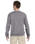 Sport Grey 9.5 oz. Ultra Cotton 80/20 Fleece Crew as seen from the back