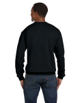 Black Premium Cotton 9 oz. Ringspun Crew as seen from the back
