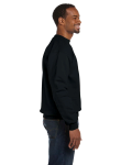 Black Premium Cotton 9 oz. Ringspun Crew as seen from the sleeveleft