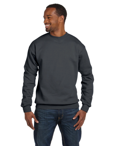 Charcoal Premium Cotton 9 oz. Ringspun Crew as seen from the front
