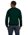 Forest Green Premium Cotton 9 oz. Ringspun Crew as seen from the back