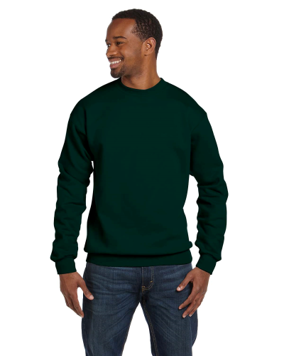 Forest Green Premium Cotton 9 oz. Ringspun Crew as seen from the front