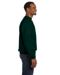 Forest Green Premium Cotton 9 oz. Ringspun Crew as seen from the sleeveleft