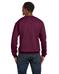 Maroon Premium Cotton 9 oz. Ringspun Crew as seen from the back