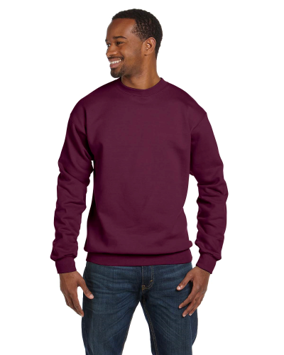 Maroon Premium Cotton 9 oz. Ringspun Crew as seen from the front