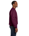 Maroon Premium Cotton 9 oz. Ringspun Crew as seen from the sleeveleft