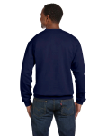Navy Premium Cotton 9 oz. Ringspun Crew as seen from the back