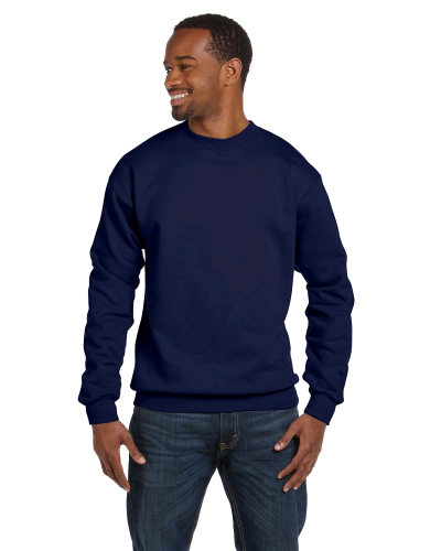 Navy Premium Cotton 9 oz. Ringspun Crew as seen from the front