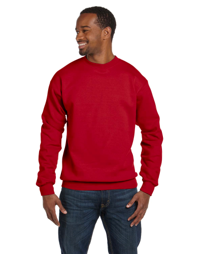 Red Premium Cotton 9 oz. Ringspun Crew as seen from the front
