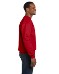 Red Premium Cotton 9 oz. Ringspun Crew as seen from the sleeveleft