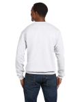 White Premium Cotton 9 oz. Ringspun Crew as seen from the back