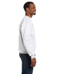 White Premium Cotton 9 oz. Ringspun Crew as seen from the sleeveleft