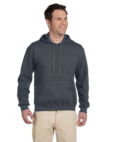 Charcoal Premium Cotton; 9 oz. Ringspun Hooded Sweatshirt as seen from the front