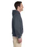 Charcoal Premium Cotton; 9 oz. Ringspun Hooded Sweatshirt as seen from the sleeveleft