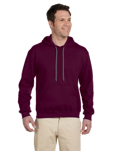 Maroon Premium Cotton; 9 oz. Ringspun Hooded Sweatshirt as seen from the front
