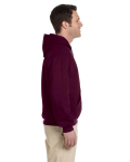 Maroon Premium Cotton; 9 oz. Ringspun Hooded Sweatshirt as seen from the sleeveleft