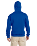 Royal Premium Cotton; 9 oz. Ringspun Hooded Sweatshirt as seen from the back