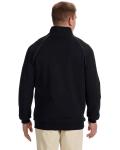 Black Premium Cotton™ 9 oz. Ringspun Fleece Full-Zip Jacket as seen from the back