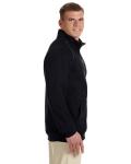 Black Premium Cotton™ 9 oz. Ringspun Fleece Full-Zip Jacket as seen from the sleeveleft