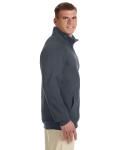 Charcoal Premium Cotton™ 9 oz. Ringspun Fleece Full-Zip Jacket as seen from the sleeveleft