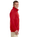 Red Premium Cotton™ 9 oz. Ringspun Fleece Full-Zip Jacket as seen from the sleeveleft