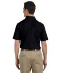 Black DryBlend™ 6.5 oz. Piqué Sport Shirt as seen from the back