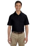 Black DryBlend™ 6.5 oz. Piqué Sport Shirt as seen from the front