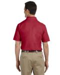 Cardinal Red DryBlend™ 6.5 oz. Piqué Sport Shirt as seen from the back