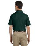 Forest Green DryBlend™ 6.5 oz. Piqué Sport Shirt as seen from the back