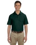 Forest Green DryBlend™ 6.5 oz. Piqué Sport Shirt as seen from the front