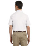 White DryBlend™ 6.5 oz. Piqué Sport Shirt as seen from the back