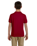 Cardinal Red DryBlend Youth 6.5 oz. Piqué Sport Shirt as seen from the back