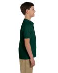 Forest Green DryBlend Youth 6.5 oz. Piqué Sport Shirt as seen from the sleeveleft
