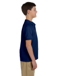 Navy DryBlend Youth 6.5 oz. Piqué Sport Shirt as seen from the sleeveleft