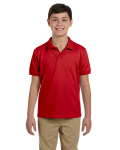 Red DryBlend Youth 6.5 oz. Piqué Sport Shirt as seen from the front