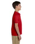 Red DryBlend Youth 6.5 oz. Piqué Sport Shirt as seen from the sleeveleft