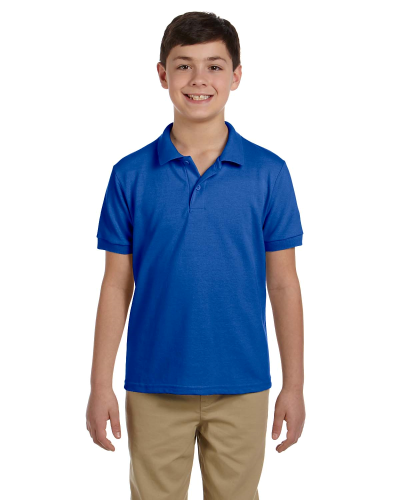 Royal DryBlend Youth 6.5 oz. Piqué Sport Shirt as seen from the front