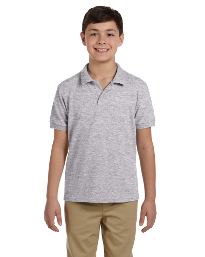 Sport Grey DryBlend Youth 6.5 oz. Piqué Sport Shirt as seen from the front