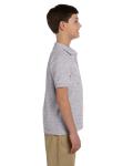 Sport Grey DryBlend Youth 6.5 oz. Piqué Sport Shirt as seen from the sleeveleft