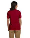 Cardinal Red DryBlend Ladies' 6.5 oz. Piqué Sport Shirt as seen from the back