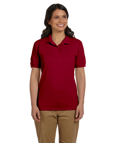 Cardinal Red DryBlend Ladies' 6.5 oz. Piqué Sport Shirt as seen from the front