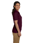 Maroon DryBlend Ladies' 6.5 oz. Piqué Sport Shirt as seen from the sleeveleft