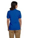 Royal DryBlend Ladies' 6.5 oz. Piqué Sport Shirt as seen from the back