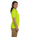Safety Green DryBlend Ladies' 6.5 oz. Piqué Sport Shirt as seen from the sleeveleft
