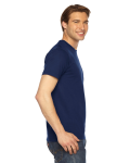 Navy MADE IN USA Unisex Short-Sleeve Hammer T-Shirt as seen from the sleeveleft