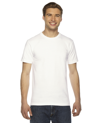 White MADE IN USA Unisex Short-Sleeve Hammer T-Shirt as seen from the front