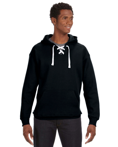 Black Sport Lace Hood as seen from the front