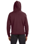 Maroon Sport Lace Hood as seen from the back