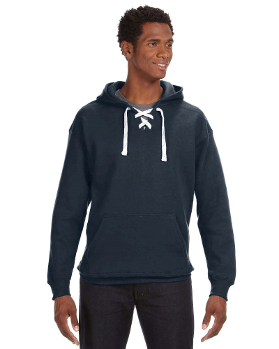 Navy Sport Lace Hood as seen from the front
